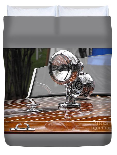 Outboard Runabout Duvet Cover