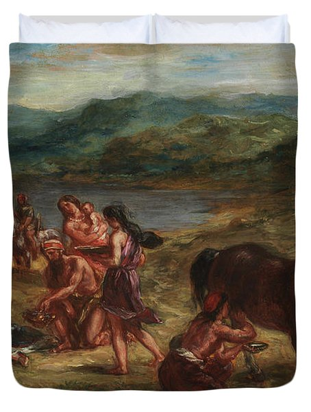 Ovid Among The Scythians Duvet Cover