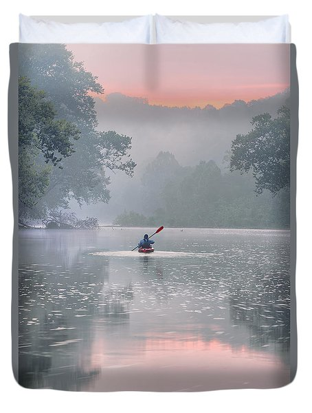 Paddling In Mist Duvet Cover