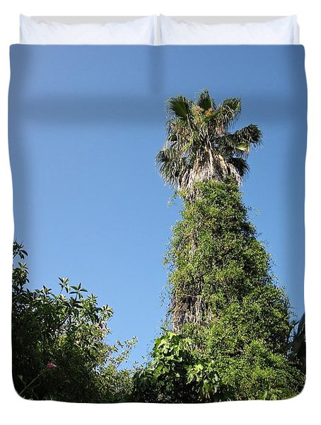 Palm Tree And Wilderness In Torremolinos Duvet Cover