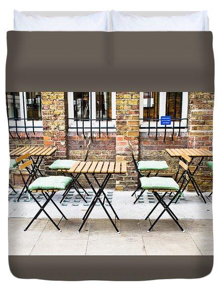 Pavement Cafe Duvet Cover