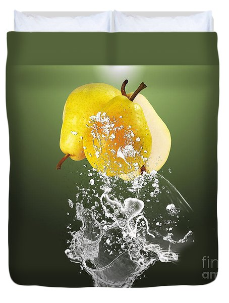 Pear Splash Collection Duvet Cover by Marvin Blaine