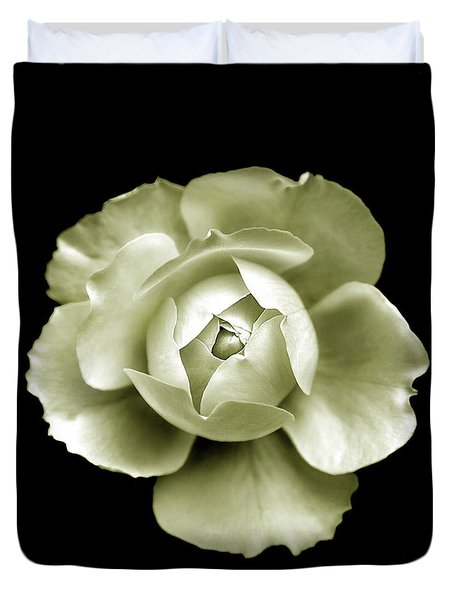 Duvet Cover featuring the photograph Peony by Charles Harden