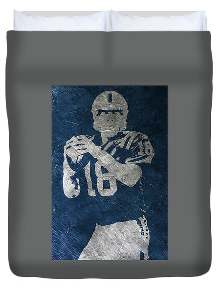 Peyton Manning Colts Duvet Cover