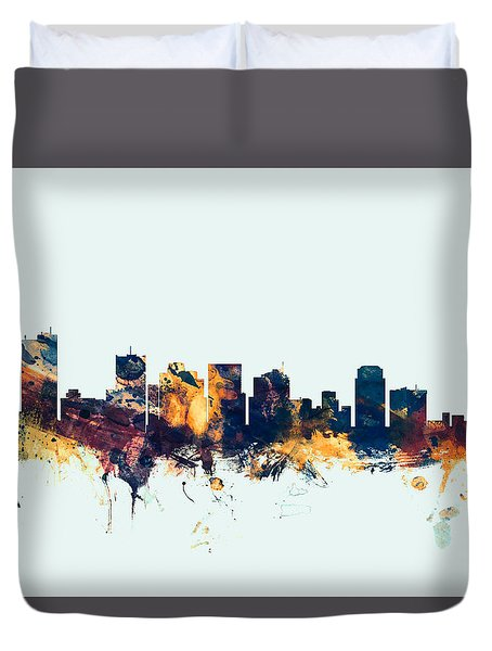 Phoenix Arizona Skyline Duvet Cover