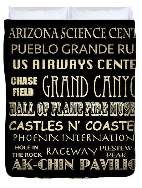 Phoenix Famous Landmarks Duvet Cover