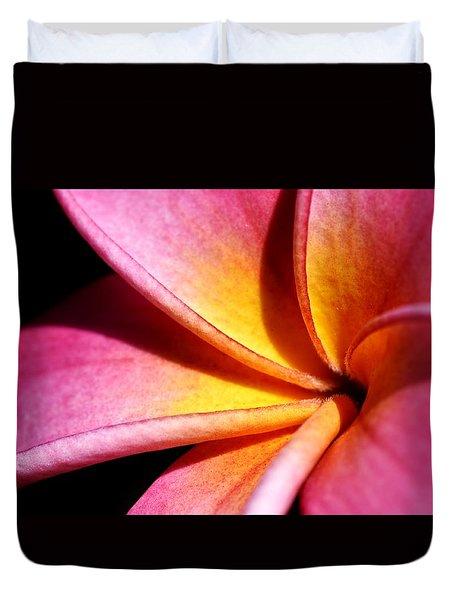 Plumeria Flower Duvet Cover