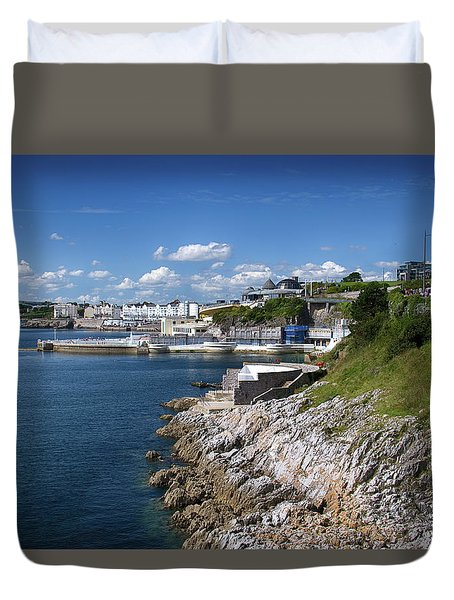 Plymouth Foreshore Duvet Cover by Chris Day