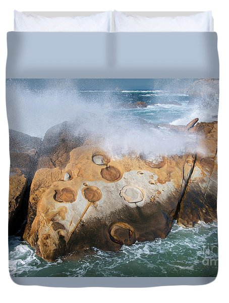 Point Lobos Concretions Duvet Cover by Glenn Franco Simmons