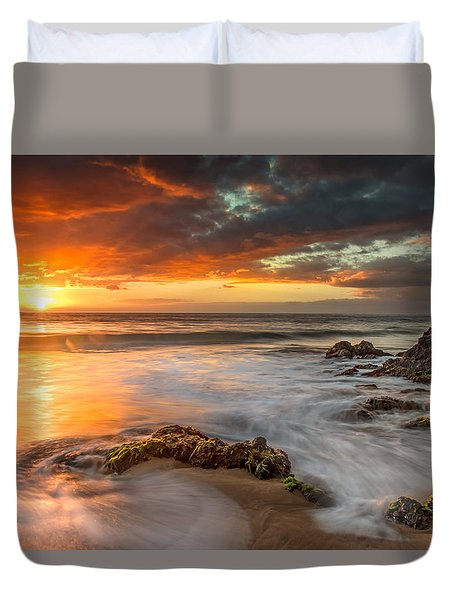 Poolenalena Sunset Duvet Cover