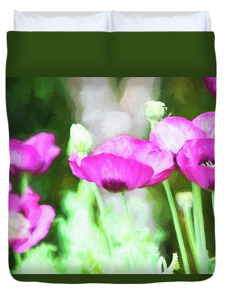 Poppies Duvet Cover by Bonnie Bruno