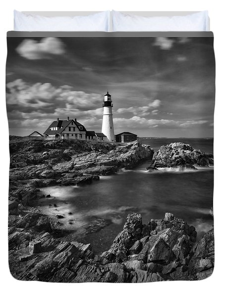Portland Head Light Duvet Cover by Denis Lemay