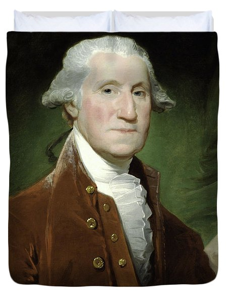 President George Washington Duvet Cover by War Is Hell Store