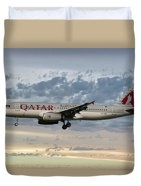 Qatar Airways Airbus A320-232 Duvet Cover