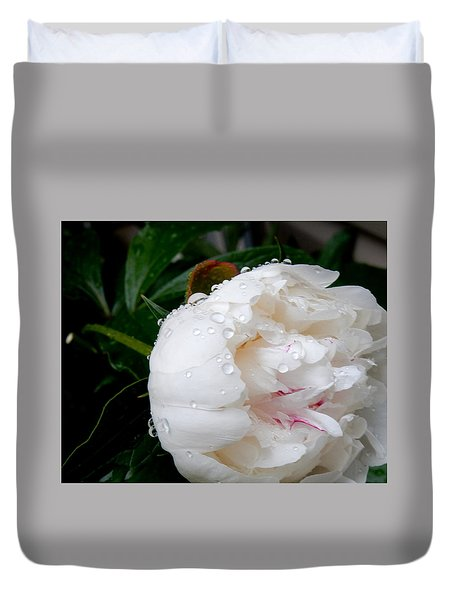 Duvet Cover featuring the photograph Rain Drops by Betty-Anne McDonald