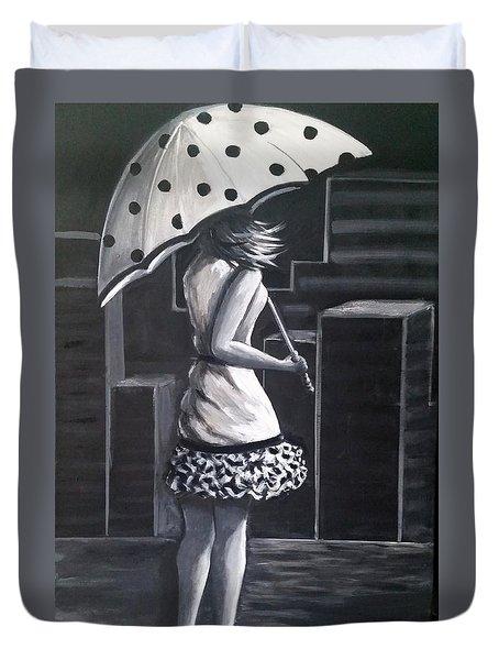 Rainy Night Duvet Cover