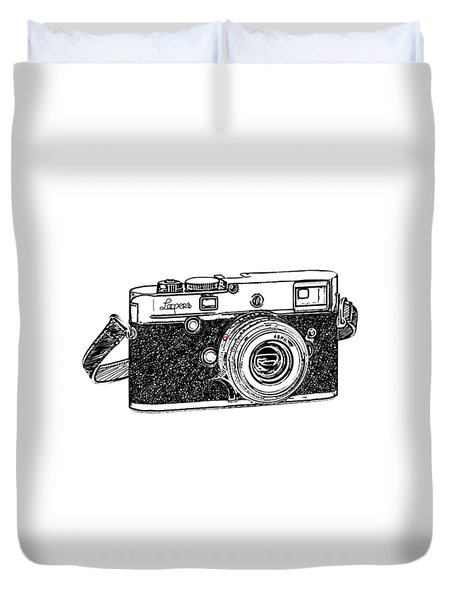 Rangefinder Camera Duvet Cover