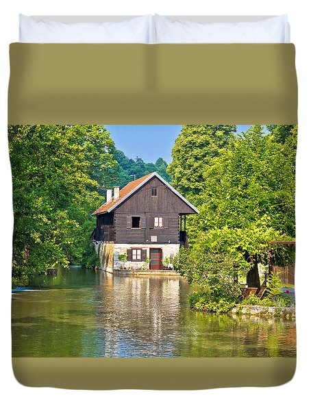 Rastoke Village On Korana River Duvet Cover by Brch Photography