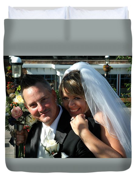 Rebecca And David Duvet Cover by Michael Dorn