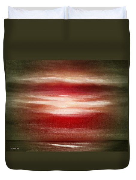 Red Abstract Sunset Duvet Cover