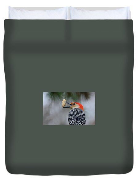 Red-bellied Woodpecker Duvet Cover