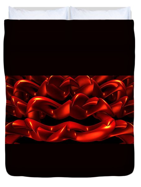 Duvet Cover featuring the digital art Red by Lyle Hatch