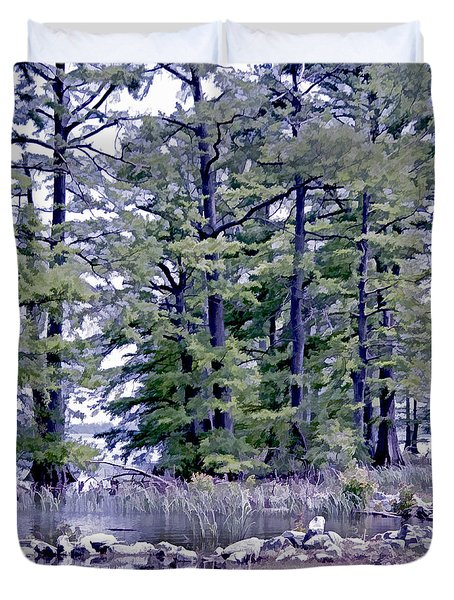 Duvet Cover featuring the photograph Reelfoot Lake  by Bonnie Willis
