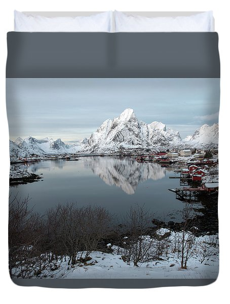 Duvet Cover featuring the photograph Reine, Lofoten 4 by Dubi Roman