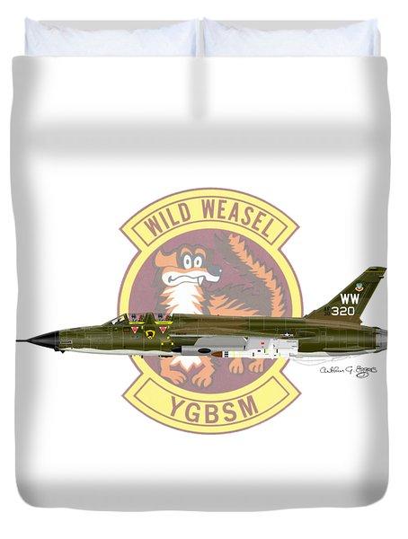 Republic F-105g Thunderchief 561tfs Duvet Cover by Arthur Eggers