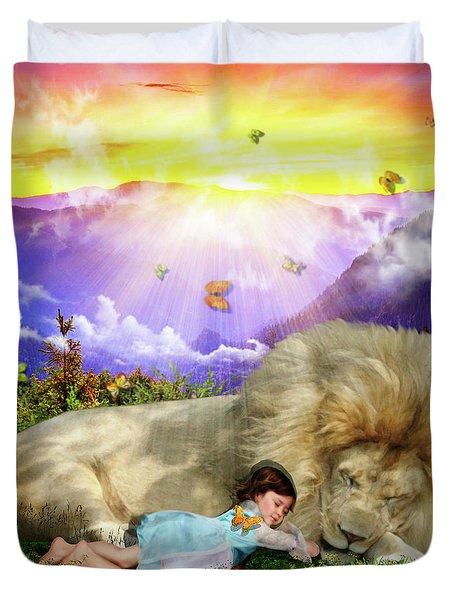 Duvet Cover featuring the digital art Rest  by Dolores Develde