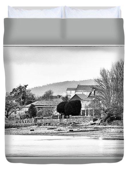 Duvet Cover featuring the photograph Ribera Maninos Fene Galicia Spain by Pablo Avanzini