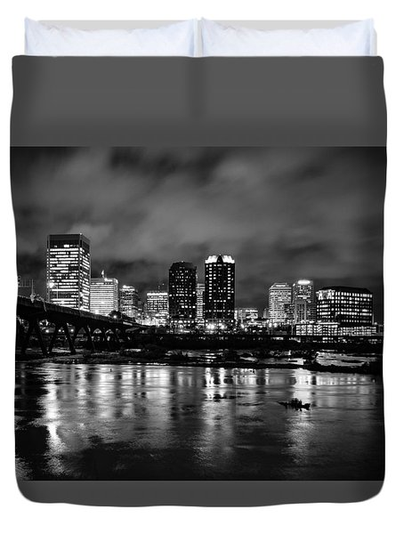 Richmond Skyline At Night Duvet Cover
