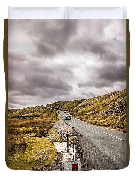 Road To Nowhere Duvet Cover by David Warrington