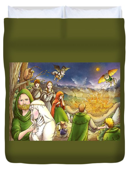Robin Hood And Matilda Duvet Cover