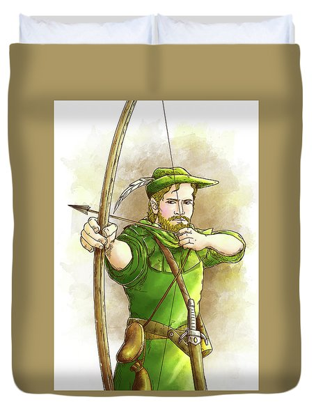 Robin Hood The Legend Duvet Cover