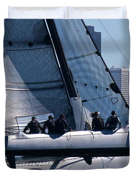 Rolex Big Boat Series Start Duvet Cover