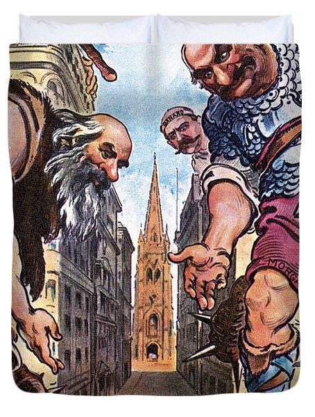 Roosevelt Cartoon, 1904 Duvet Cover