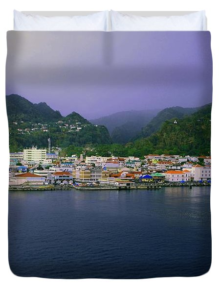 Roseau Dominica Duvet Cover