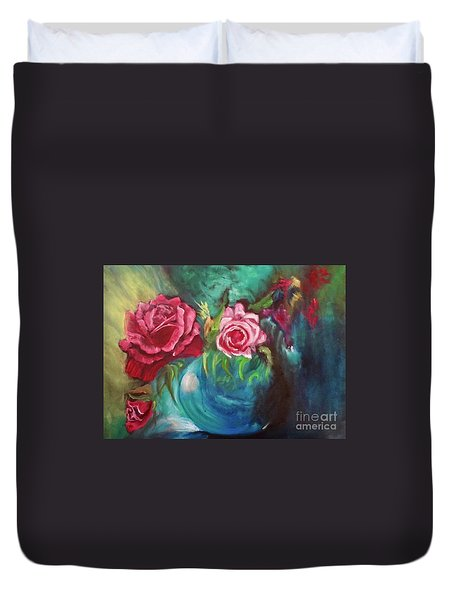 Roses One Of A Kind Handmade Duvet Cover