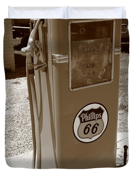 Route 66 Gas Pump Duvet Cover