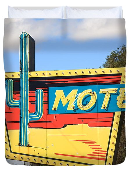 Route 66 - Western Motel Duvet Cover