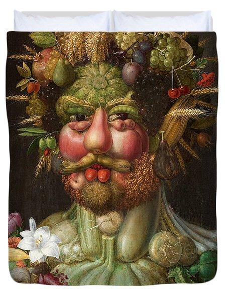 Rudolf II Of Habsburg As Vertumnus Duvet Cover