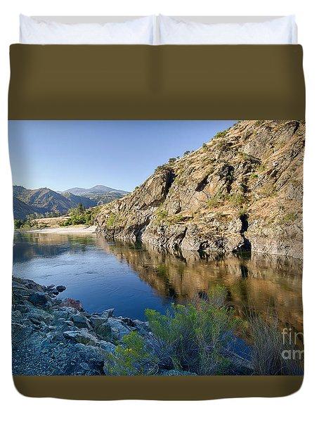 Salmon River Canyon Duvet Cover