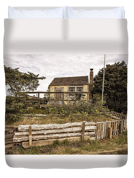 Sandy Neck Dune Shack Duvet Cover