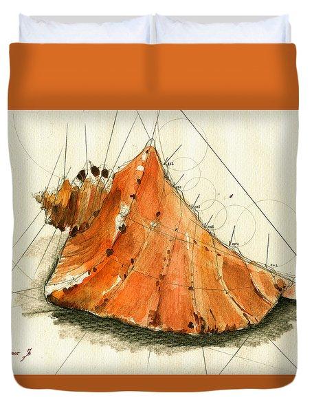 Seashell Art Painting Duvet Cover