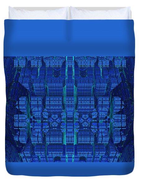 Settlement In Deep Space Duvet Cover