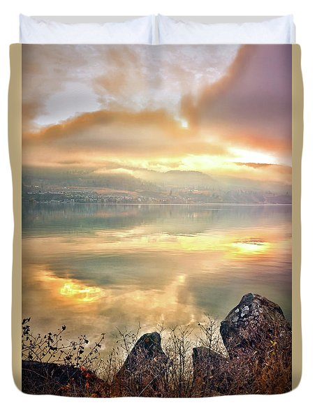 Duvet Cover featuring the photograph Skaha Serenity by Tara Turner
