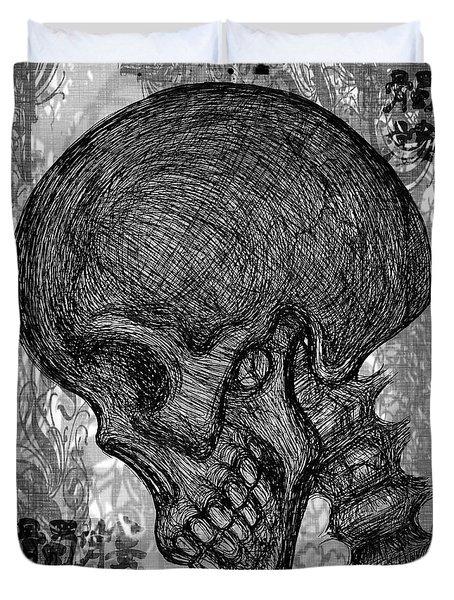 Gothic Skull Duvet Cover