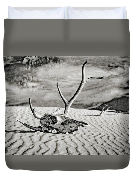 Skull And Antlers Duvet Cover