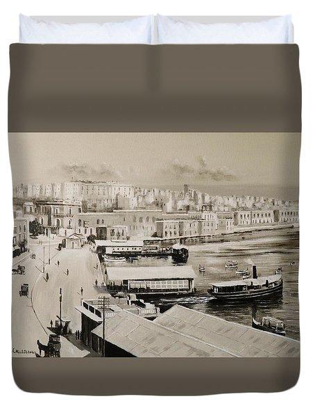 Sliema Ferries  1940 Duvet Cover
